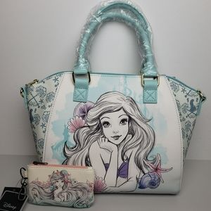 Loungefly The Little Mermaid Satchel and Wallet